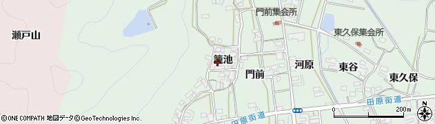 愛知県田原市大久保町(籠池)周辺の地図