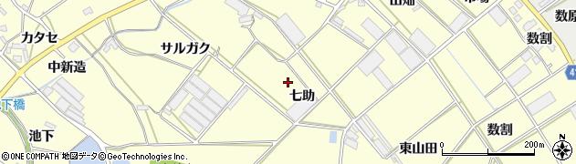 愛知県田原市神戸町(七助)周辺の地図
