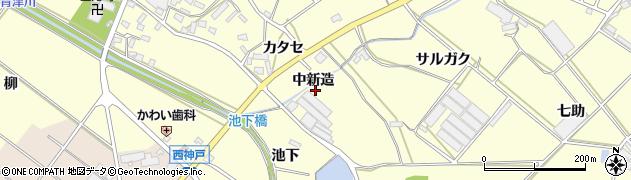 愛知県田原市神戸町(中新造)周辺の地図