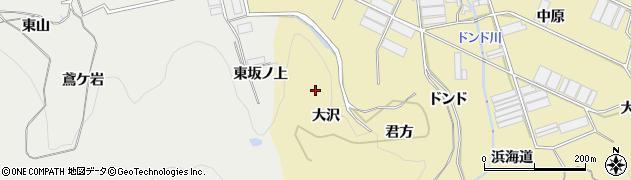 愛知県田原市宇津江町(大沢)周辺の地図