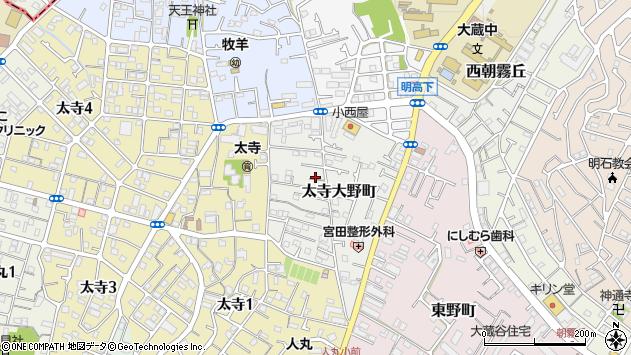 〒673-0843 兵庫県明石市太寺大野町の地図