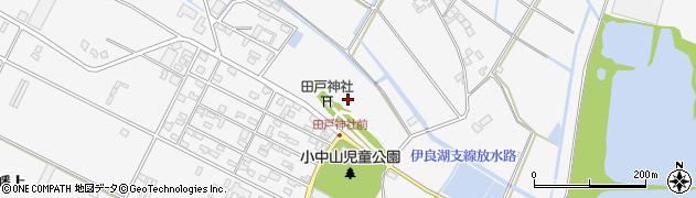 愛知県田原市小中山町(西山)周辺の地図
