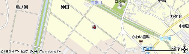 愛知県田原市神戸町(柳)周辺の地図