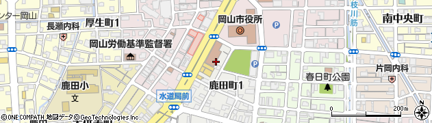 岡山市こころの健康センター周辺の地図