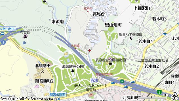 〒654-0062 兵庫県神戸市須磨区水野町の地図