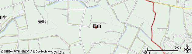 愛知県田原市六連町(長山)周辺の地図