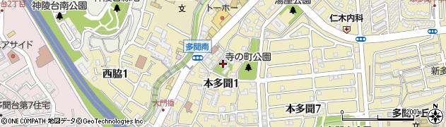 西方院周辺の地図