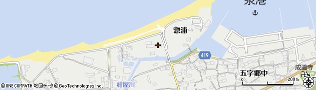 愛知県田原市江比間町(惣浦)周辺の地図