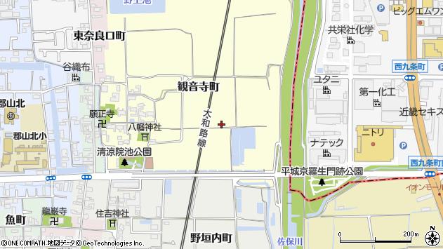 〒639-1161 奈良県大和郡山市観音寺町の地図