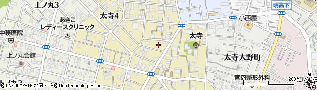 兵庫県明石市太寺周辺の地図