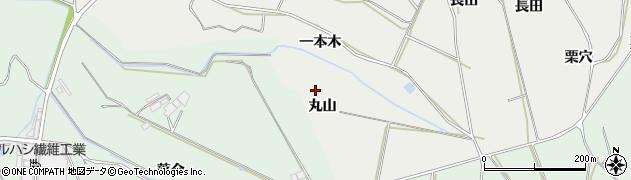 愛知県田原市相川町(丸山)周辺の地図