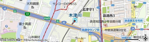 大阪府大阪市西成区周辺の地図