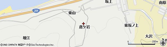 愛知県田原市江比間町(鳶ケ岩)周辺の地図