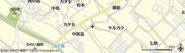 愛知県田原市神戸町(サルガク)周辺の地図