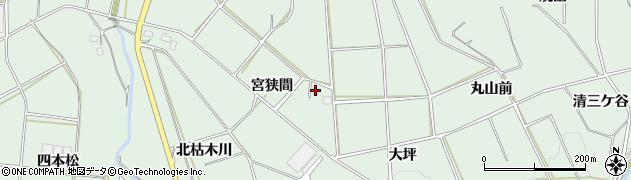 愛知県田原市六連町(宮狭間)周辺の地図