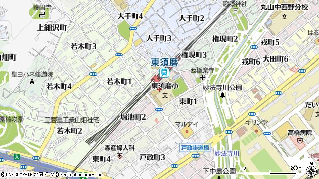 〒654-0032 兵庫県神戸市須磨区堀池町の地図