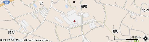 愛知県田原市加治町(稲場)周辺の地図