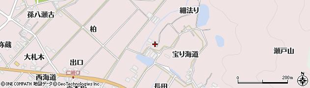 愛知県田原市野田町(細法り)周辺の地図