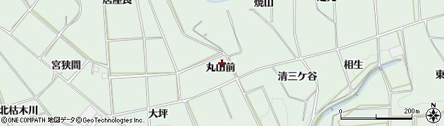 愛知県田原市六連町(丸山前)周辺の地図
