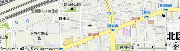 岡山県岡山市北区野田周辺の地図