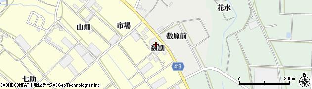 愛知県田原市神戸町(数割)周辺の地図