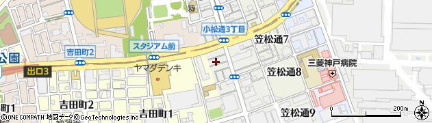 兵庫県神戸市兵庫区浜山通周辺の地図