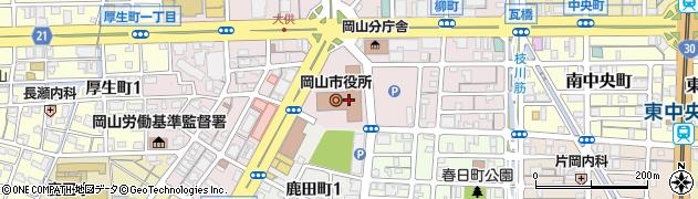 岡山県岡山市北区周辺の地図