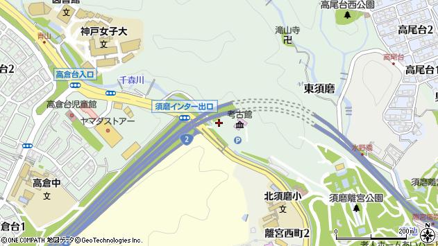 〒654-0018 兵庫県神戸市須磨区東須磨の地図
