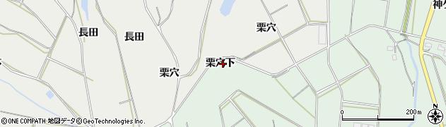 愛知県田原市六連町(栗穴下)周辺の地図