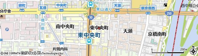 岡山県岡山市北区東中央町周辺の地図