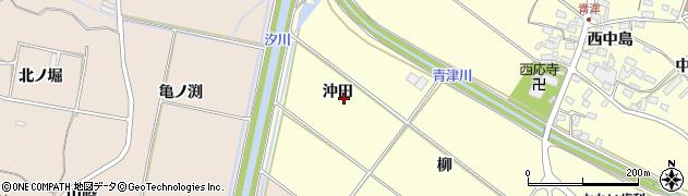 愛知県田原市神戸町(沖田)周辺の地図
