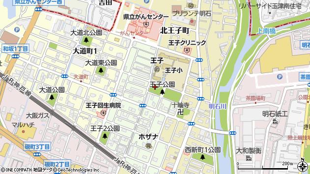〒673-0022 兵庫県明石市王子の地図