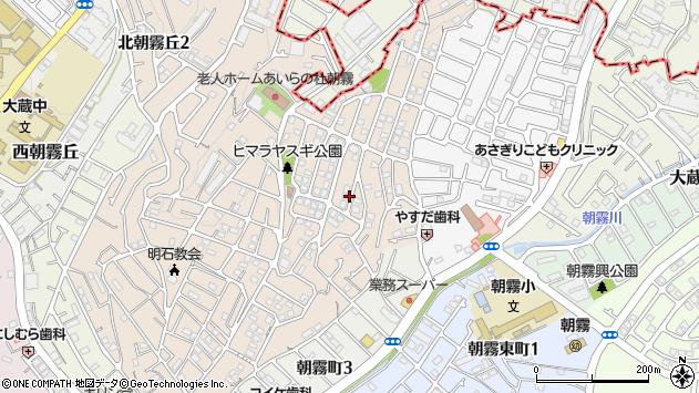 〒673-0853 兵庫県明石市朝霧山手町の地図