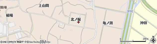 愛知県田原市加治町(北ノ堀)周辺の地図