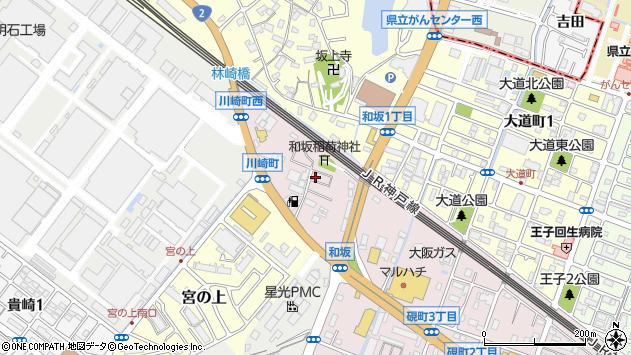 〒673-0013 兵庫県明石市和坂稲荷町の地図
