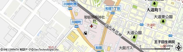 兵庫県明石市和坂稲荷町周辺の地図