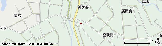 愛知県田原市六連町(北枯木川)周辺の地図