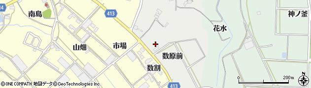 愛知県田原市相川町(数原前)周辺の地図