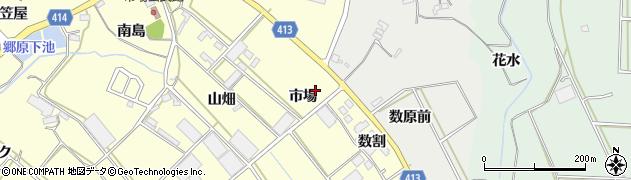 愛知県田原市神戸町(市場)周辺の地図