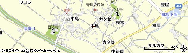 愛知県田原市神戸町(中島)周辺の地図