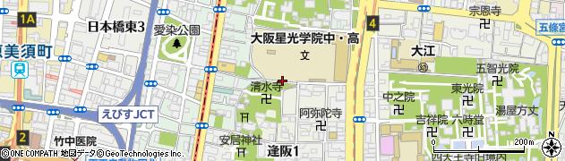 大阪府大阪市天王寺区伶人町周辺の地図