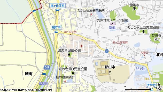 〒639-1008 奈良県大和郡山市城の台町の地図
