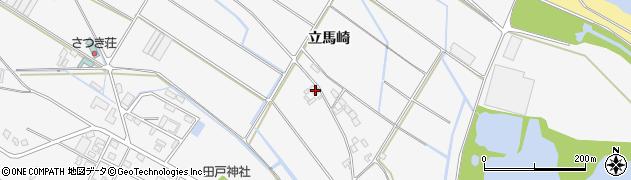 愛知県田原市小中山町(立馬崎)周辺の地図