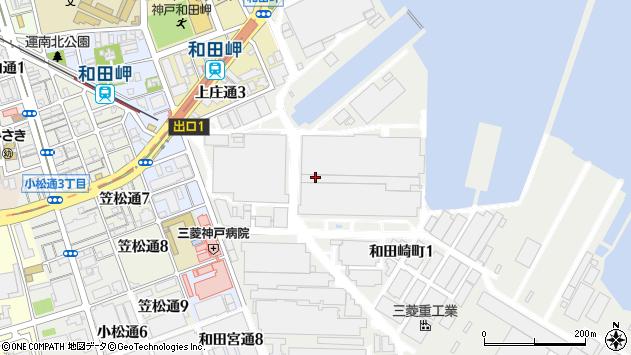 〒652-0854 兵庫県神戸市兵庫区和田崎町の地図