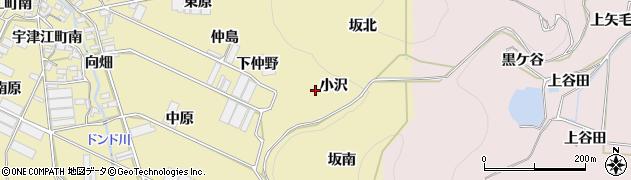 愛知県田原市宇津江町(小沢)周辺の地図