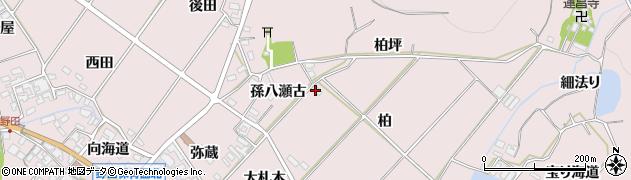 愛知県田原市野田町(柏)周辺の地図