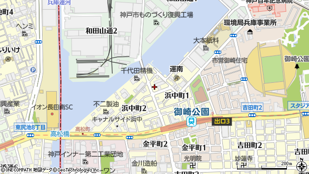 〒652-0875 兵庫県神戸市兵庫区浜中町の地図