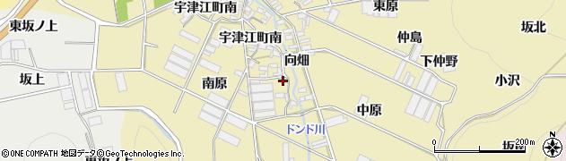 愛知県田原市宇津江町(南原)周辺の地図