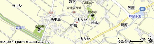 愛知県田原市神戸町(カタセ)周辺の地図