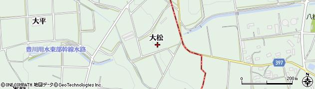 愛知県田原市六連町(大松)周辺の地図